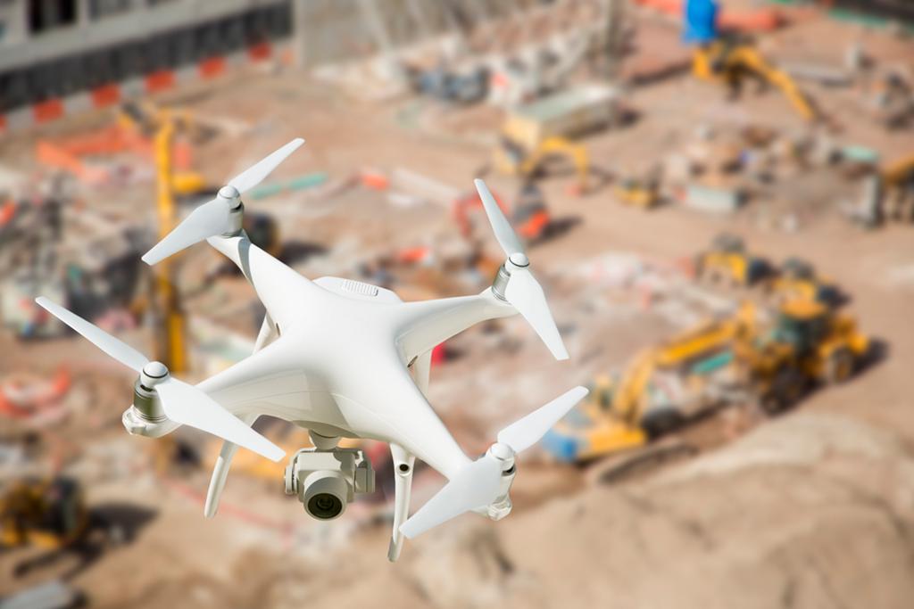 Tecnologias na construção - Drones monitoram os processos no canteiro de obras