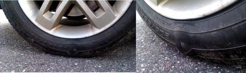 deixar de trocar o pneu na data de validade facilita sua deterioração e o surgimento de bolhas de ar, por exemplo