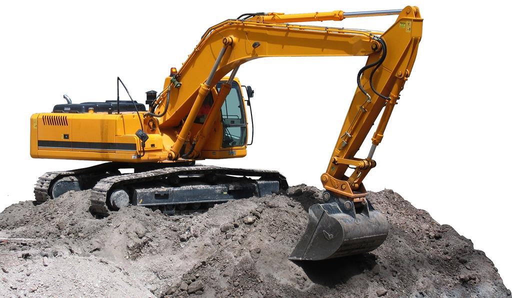 na terraplenagem, as escavadeiras ficam com o trabalho mais pesado