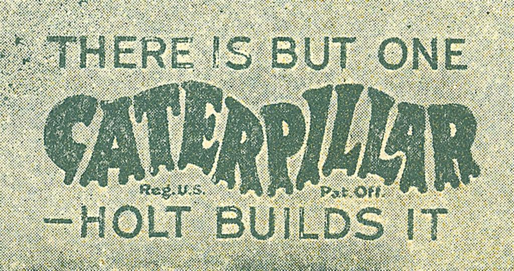 A primeira marca registrada Caterpillar