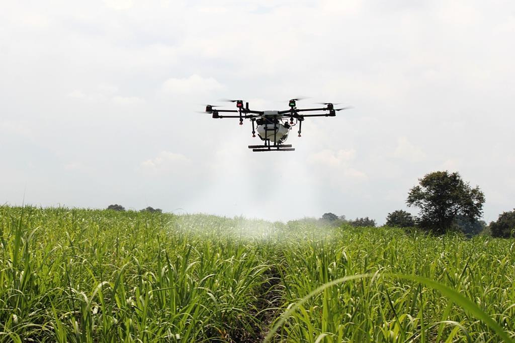 os drones são responsáveis por medir a altura das plantas, gerar mapas topográficos, calcular área de nivelamento, dimensionar áreas de proteção permanente etc