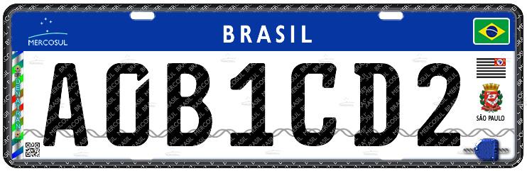 placa de carro brasil
