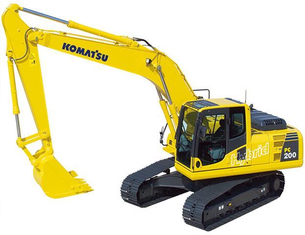 Komatsu lança primeira escavadeira hidráulica híbrida