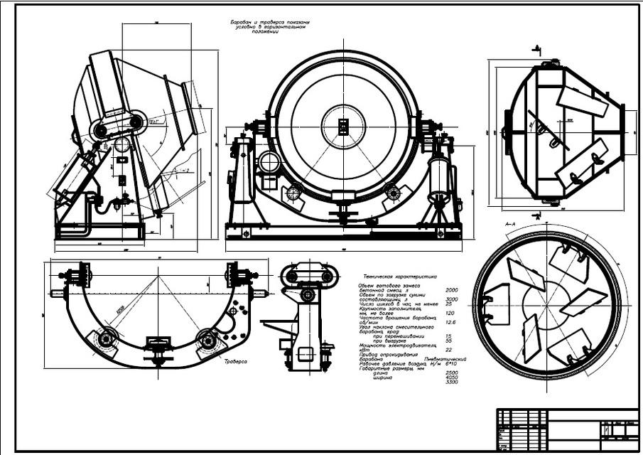 Protótipo de máquina para preparar concreto