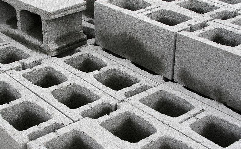 Blocos de concreto empilhados