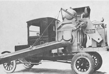 Modelo antigo de caminhão betoneira