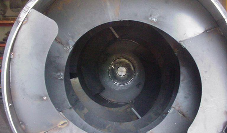 Facas internas do caminhão betoneira