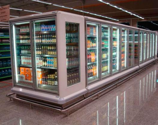 Expositore Refrigerado em um supermercado