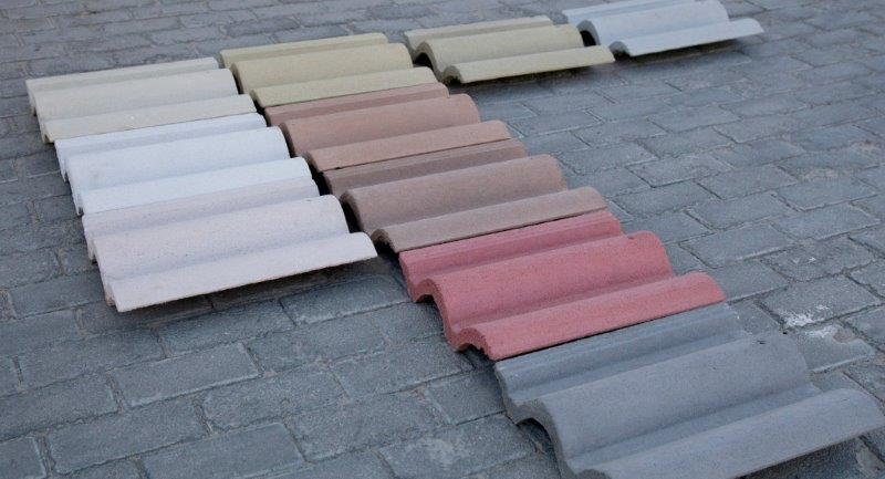 telhas de concreto coloridas